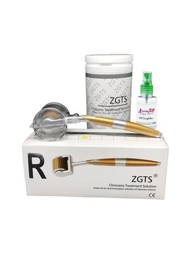 Zgts Dermaroller 2.50 mm Titanyum 192 İğneli Orijinal Gold Derma Roller Saç Yüz Vücut Renksiz